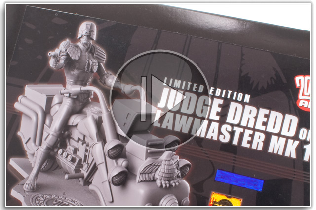 Dark World Creations Judge Dredd on Lawmaster Mk1 70mm