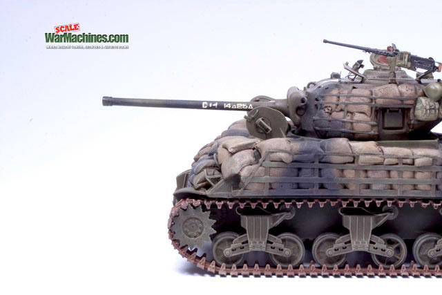 Sandbagged Sherman M4A3
